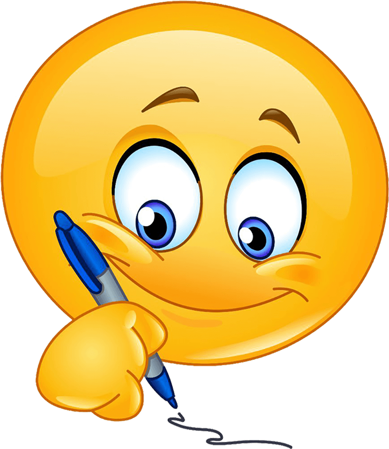 emoticon che scrive